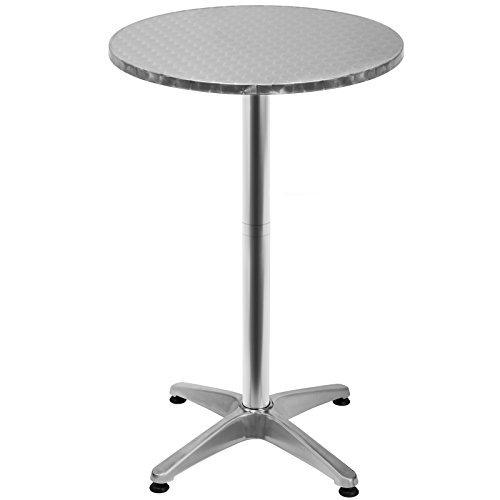 31tlwe2nCFL - Deuba 100591 Stehtisch, Aluminium, höhenverstellbar 70cm oder 115cm, Ø 60cm