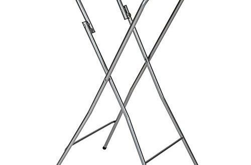 TecTake Stabiler Stehtisch Bistrotisch klappbar Weiss Höhe: ca. 110 cm, Tischplatte: ca. 60 cm Ø